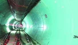 A view of a section of the main trunk sewer of  Doha South Sewage infrastructure. File picture