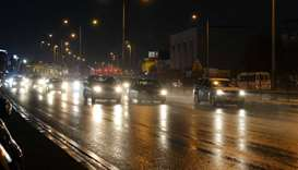 Rain in Doha. PICTURES: Thajudheen, Nasar K Moidheen and Ram Chand
