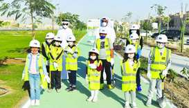 Qatar Beautification and Our Kids Planting Trees' campaign