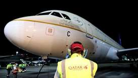 First Saudi Airlines flight comes to Doha