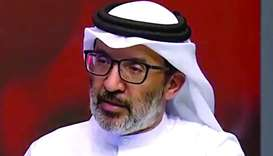 Dr Yousuf al-Maslamani speaking to Qatar TV