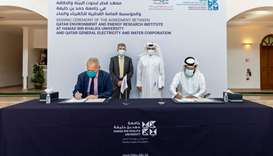 Kahramaa, HBKU sign co-operation pact to benefit from Qeeri labs