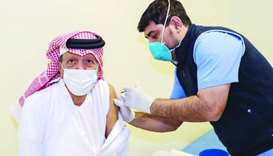 HE Dr Youssef Hussein Kamal receives Covid-19 vaccine.