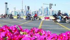 'Thank You Kuwait' motorbike parade