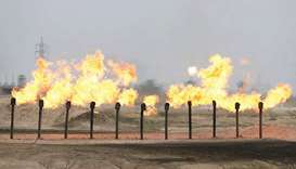 Flames seen at a station in Al-Zubair oilfield, near Basra (file). Iraqi Oil Minister Ihsan Abdul Ja