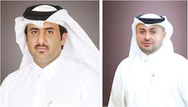 From left: Sheikh Faisal bin AbdulAziz bin Jassem al-Thani, Ahlibank chairman and managing director,