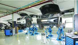 The service centre has 11 dedicated service bays and a spare parts shop equipped with genuine parts