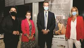 From left: W Hotel Doha general manager Wassem Dagher, Servcorp senior manager Fabienne Hajar, Itali