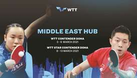 Top stars to feature in WTT Middle East Hub in Doha