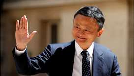 "Jack Ma, chairman of Alibaba Group arrives at the ""Tech for Good"" Summit in Paris, France on May 15,"