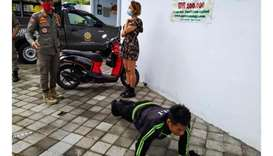 An undated handout picture released by Bali's Satpol PP, the provincial public order agency, shows a