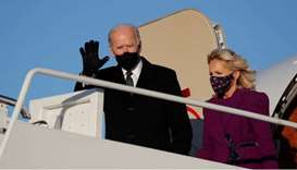 US President-elect Joe Biden and his wife Jill.