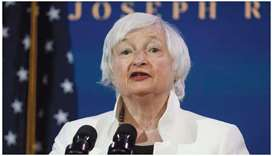 Janet Yellen, US President Joe Biden's nominee to be Treasury Secretary, speaks as Biden announces n