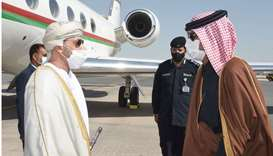 Minister Hamoud Bin Faisal Albusaidi was greeted upon arrival at Doha International Airport by HE th