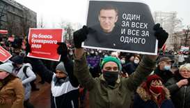 Police arrest over 1,000 at Russia protests backing jailed Kremlin foe Navalny