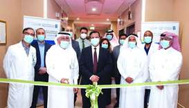 Dr Ahmed al-Mulla and other officials at the opening of the new Smoking Cessation Clinic at HMGH.