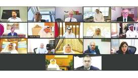 The webinar was presided over by QBA chairman HE Sheikh Faisal bin Qassim al-Thani and HE the Minist