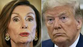 US Speaker of the House Nancy Pelosi and Donald Trump
