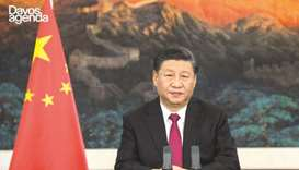 A video grab taken from the website of the World Economic Forum shows China's President Xi Jinping s