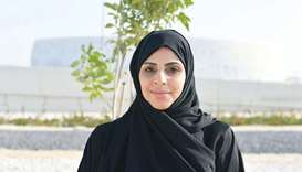 CMC member Fatima al-Kuwari at the venue.