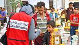 QRCS delivers food parcels to 68,670 beneficiaries in Yemen