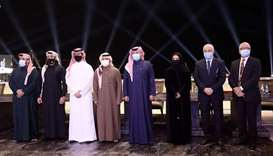 Officials at the announcement of  Katara International Arabian Horse Festival