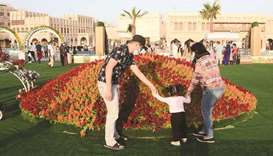The Flower Festival at Souq Waqif's Western Square is an attraction for many families in Doha. PICTU