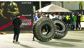 Qatar's Strongest Man competition