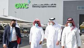 HE the Minister of State Ahmad bin Mohamed al-Sayed touring the newest regional hub for GWC, the lea