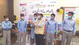 Qatar Charity, Unicef in Covid-19 prevention campaign in Pakistan