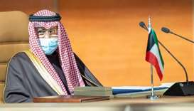 Kuwait's Emir Nawaf al-Ahmad al-Sabah attends the Gulf Cooperation Council's (GCC) 41st Summit in Al