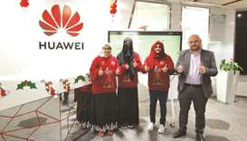 The Qatar team, comprised of three students, won the 'Outstanding Performance' award at the Huawei M