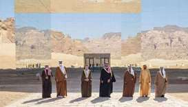 GCC leaders and heads of delegations at their summit in the historic city of Al-Ula in Saudi Arabia.
