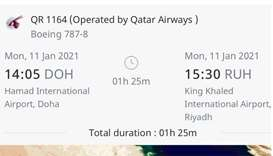 Qatar Airways to resume Riyadh flights on Monday