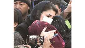 Maryam Nawaz meeting with the mourning Hazara community during a sit-in at the eastern bypass on the