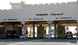 Cars move at Qatar's Abu Samra border crossing with Saudi Arabia, after the two countries restored t