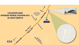 Map of the new Woqod service station