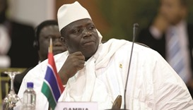 Jammeh: conceded defeat publicly last week.
