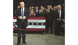 President-elect Donald Trump arrives at the USA Thank You Tour 2016 at the Wisconsin State Fair Expo