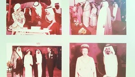 HH the Grandfather Emir Sheikh Khalifa bin Hamad al-Thani with Queen Elizabeth II.