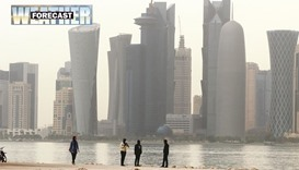 Light rain forecast for some areas in Qatar