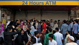 India - bank queue