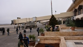 A picture shows Aleppo's International Airport on December 21, 2016