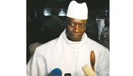 Jammeh: has not responded to the announcement of his election loss.