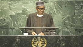 Buhari: The terrorists are on the run, and no longer have a place to hide.