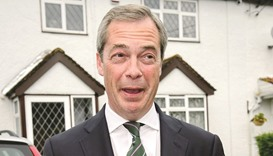 Nigel Farage: strained ties.