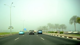 Foggy conditions likely to continue in Qatar