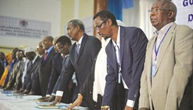 Somalia swears in federal lawmakers