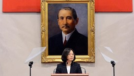 Taiwan won't cave to China threats, says president