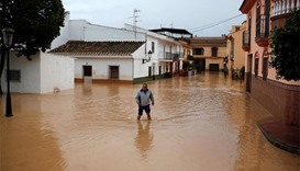 Severe rain causes flooding in southern Spain